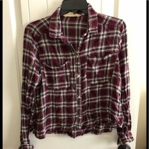 Red Hollister Flannel